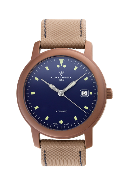 ATTRACTIVE Automatic 40 Blue PVD Bronze Matt
